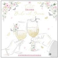 Handcrafted - Card - A Toast to the Bride & Groom